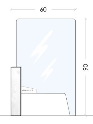 Schermo protettivo 60cm